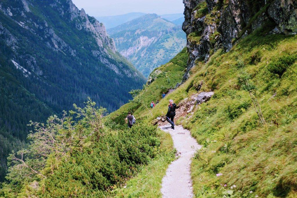 Sarnia skała i dwie drogi na jej szczyt