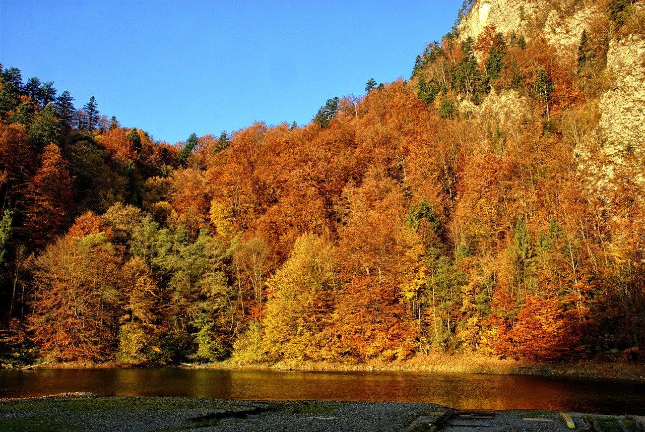 Spływ Dunajcem jesienią