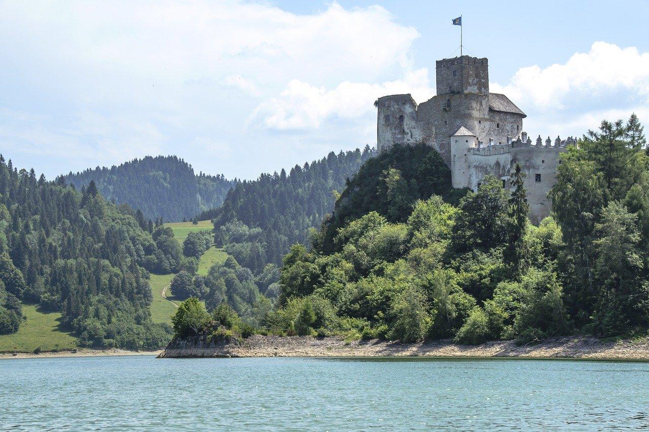 Dunajec i ruiny Zamku