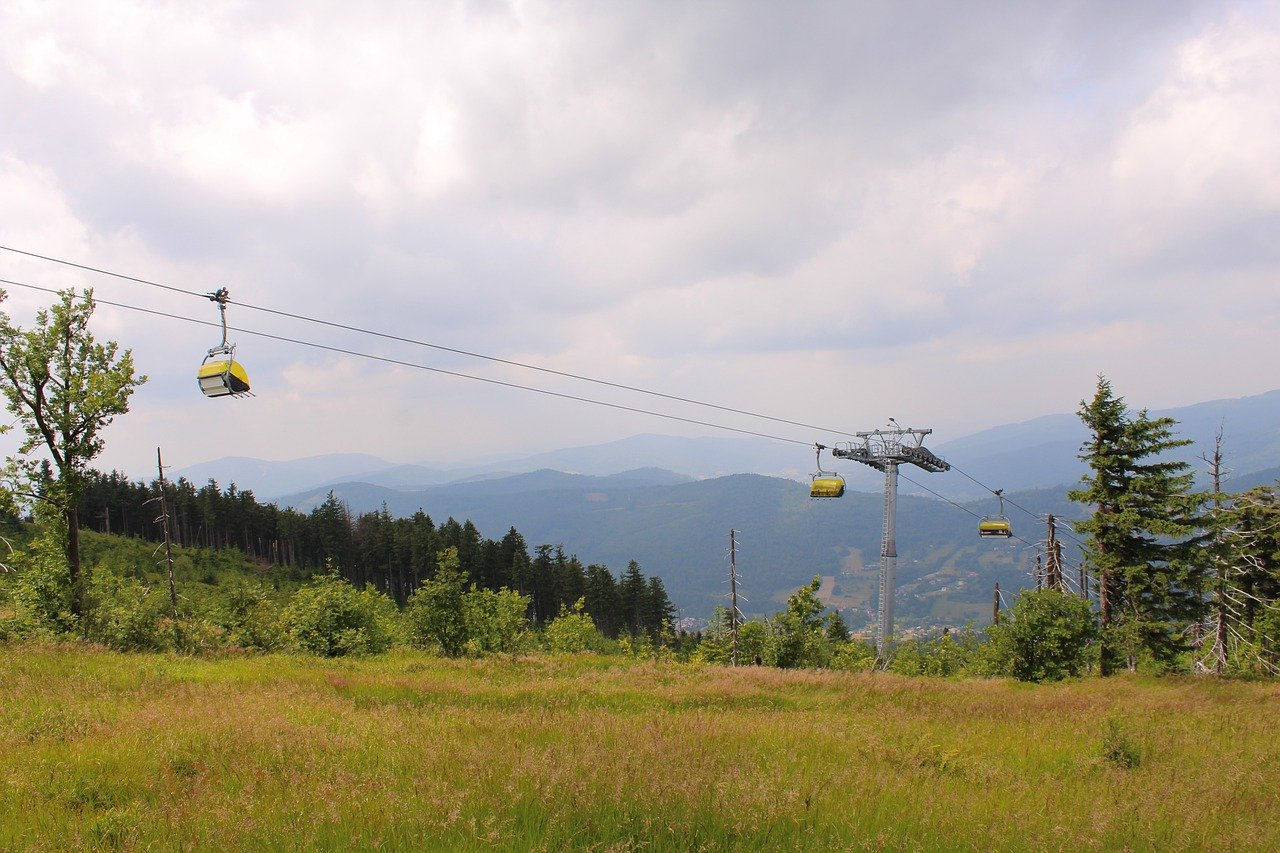 Stok narciarski latem