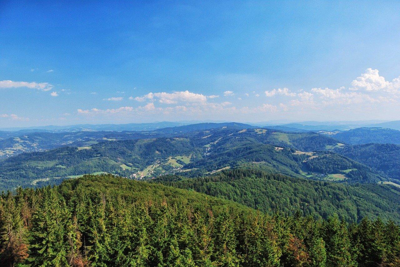 Sloneczny widok gorski