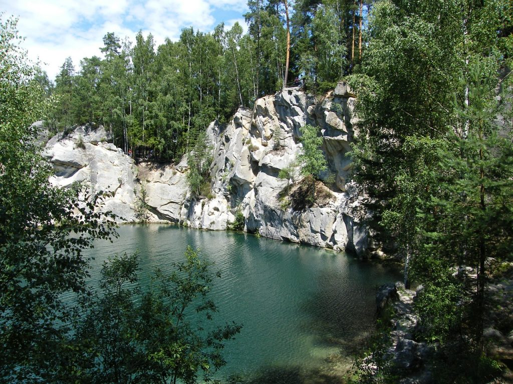 Cudowne jezioro w Adrspach