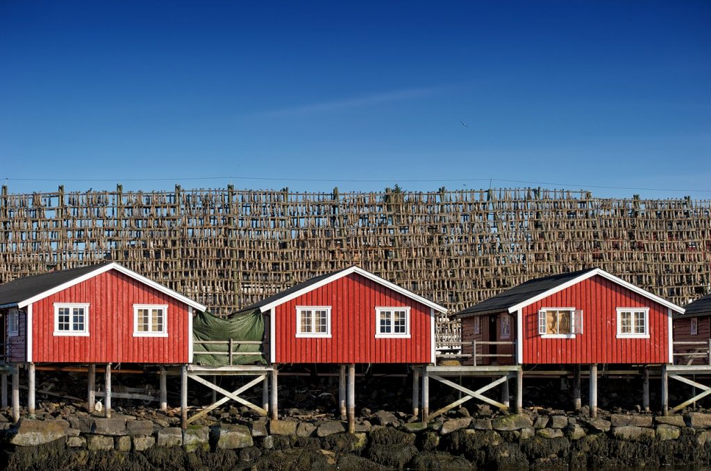 Okolice fiordu Reinefjorden
