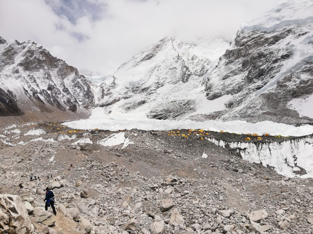 widok na Everest Base Camp