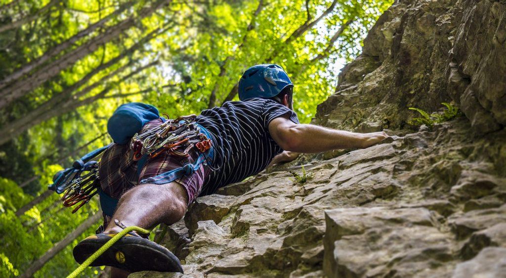 wspinacz skałkowy