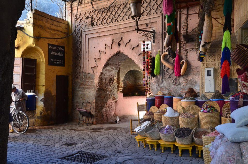 uliczka Marrakeszu