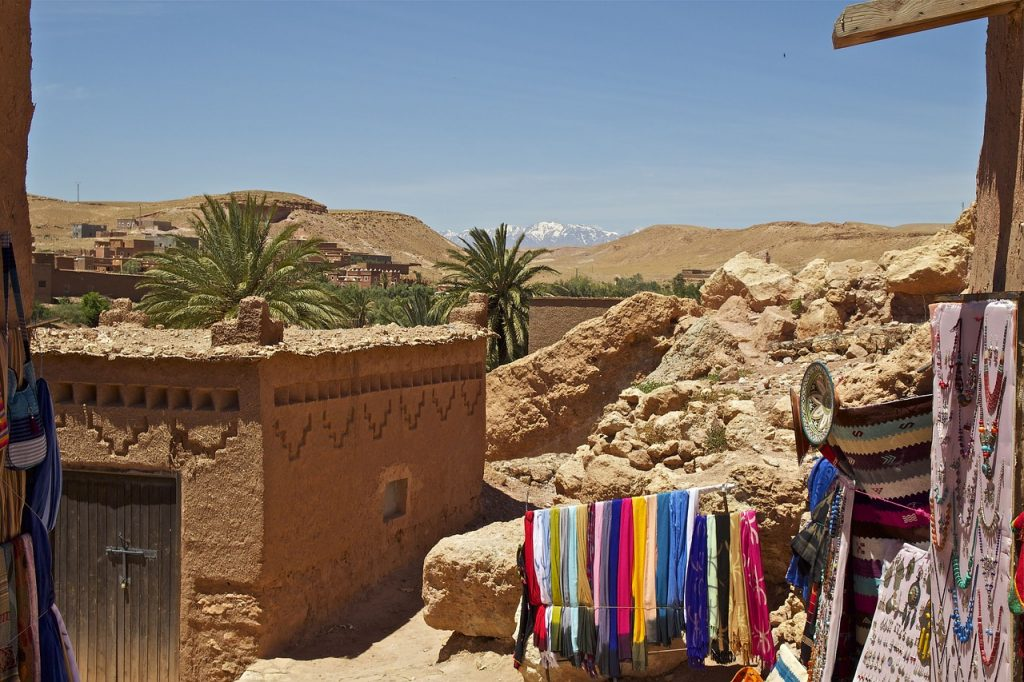 Maroko i góry w tle