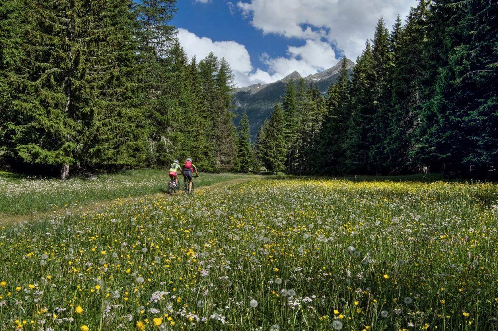 przejażdżka rowerowa w górach