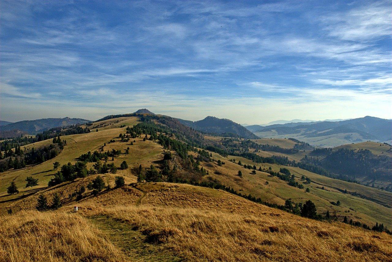 Jesienny krajobraz gorski
