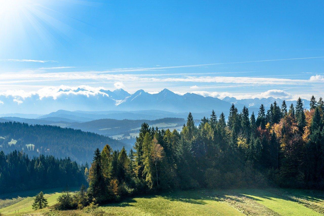 Krajobraz gorski Pieniny