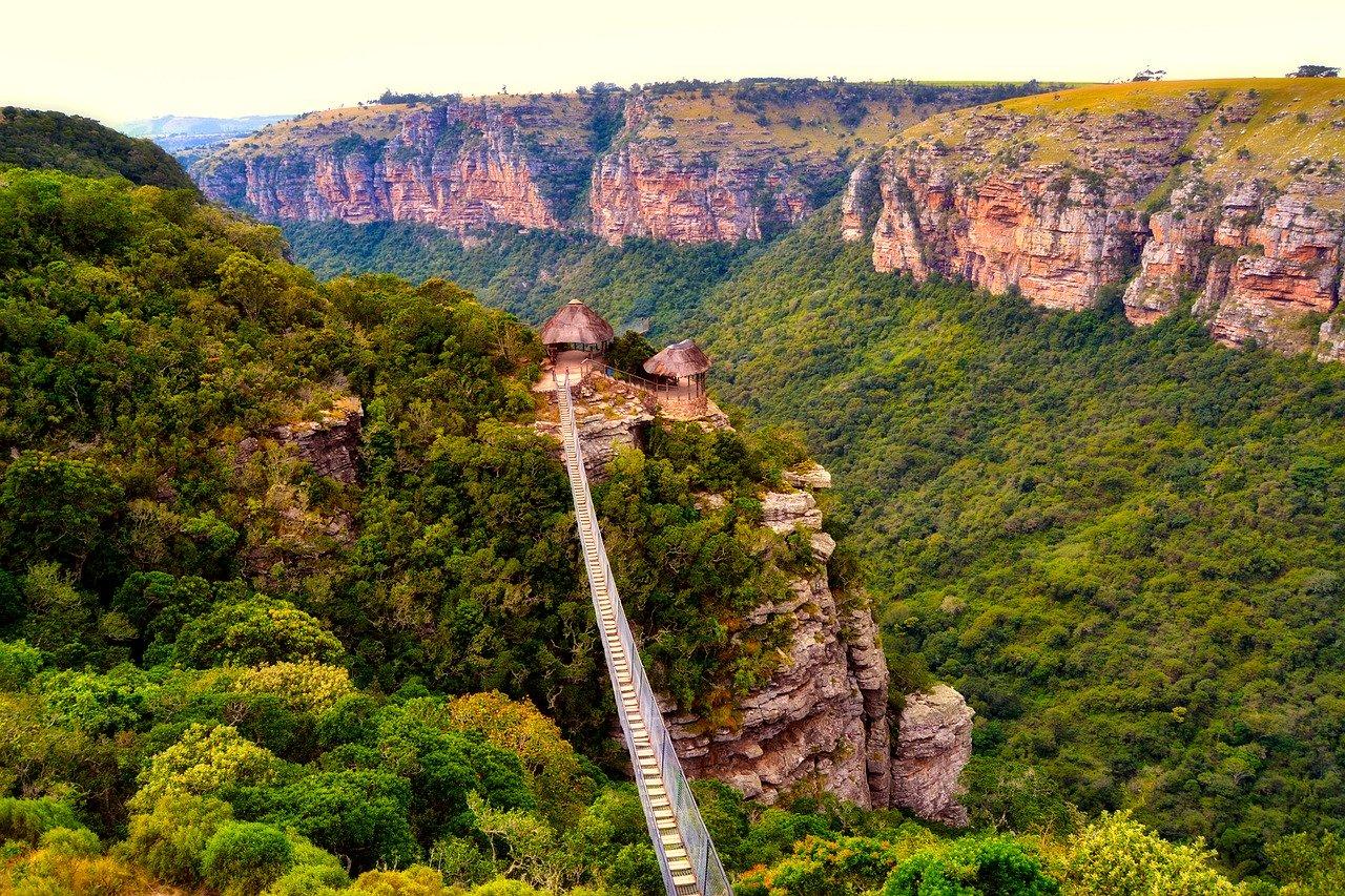 Krajobraz gorski w Afryce