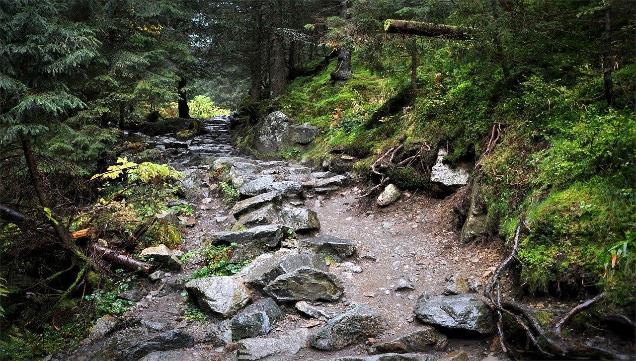 gorska droga po kamieniach