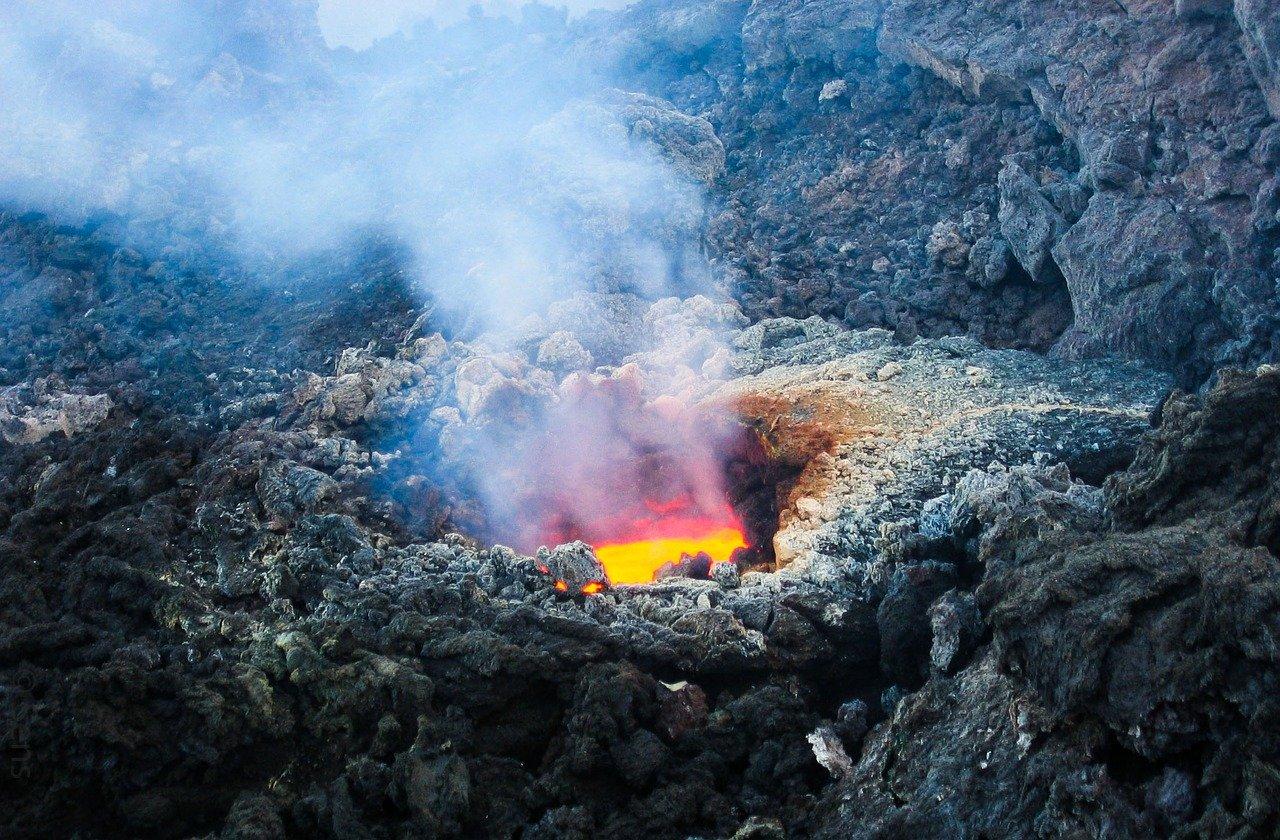 Czynny wulkan Etna